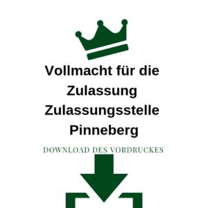 Vollmacht für die Zulassung Zulassungsstelle Pinneberg